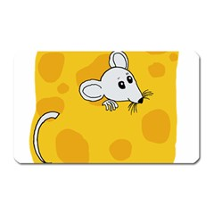 Rat Mouse Cheese Animal Mammal Magnet (rectangular)