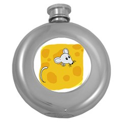 Rat Mouse Cheese Animal Mammal Round Hip Flask (5 Oz)