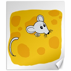 Rat Mouse Cheese Animal Mammal Canvas 8  X 10