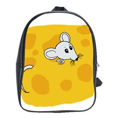 Rat Mouse Cheese Animal Mammal School Bag (large)