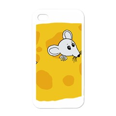 Rat Mouse Cheese Animal Mammal Apple Iphone 4 Case (white)