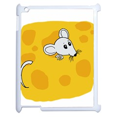 Rat Mouse Cheese Animal Mammal Apple Ipad 2 Case (white)