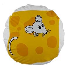 Rat Mouse Cheese Animal Mammal Large 18  Premium Round Cushions