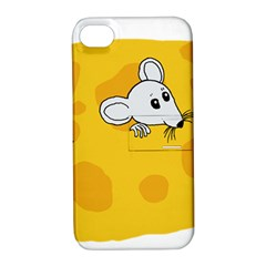 Rat Mouse Cheese Animal Mammal Apple Iphone 4/4s Hardshell Case With Stand