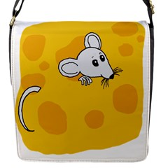Rat Mouse Cheese Animal Mammal Flap Messenger Bag (s)