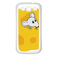 Rat Mouse Cheese Animal Mammal Samsung Galaxy S3 Back Case (white)