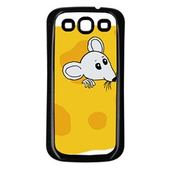 Rat Mouse Cheese Animal Mammal Samsung Galaxy S3 Back Case (black)