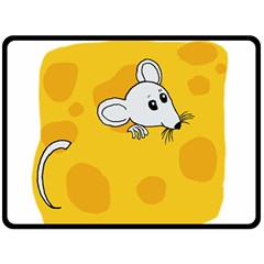 Rat Mouse Cheese Animal Mammal Double Sided Fleece Blanket (large)