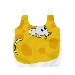 Rat Mouse Cheese Animal Mammal Full Print Recycle Bags (m)