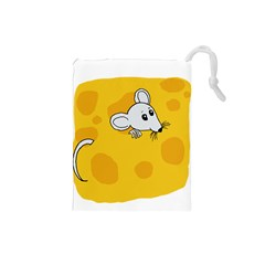Rat Mouse Cheese Animal Mammal Drawstring Pouches (small)