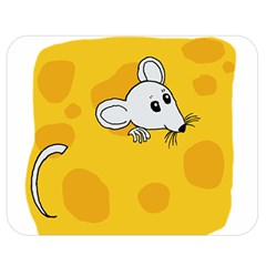 Rat Mouse Cheese Animal Mammal Double Sided Flano Blanket (medium)
