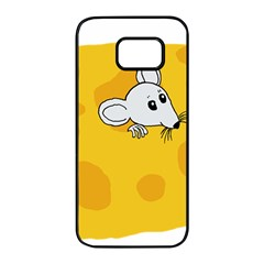 Rat Mouse Cheese Animal Mammal Samsung Galaxy S7 Edge Black Seamless Case