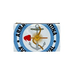 Argentine Naval Aviation Patch Cosmetic Bag (small)  by abbeyz71