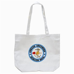 Argentine Naval Aviation Patch Tote Bag (white) by abbeyz71