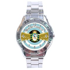 Argentine Army Aviation Badge Stainless Steel Analogue Watch by abbeyz71