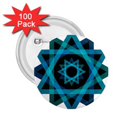 Transparent Triangles 2 25  Buttons (100 Pack)