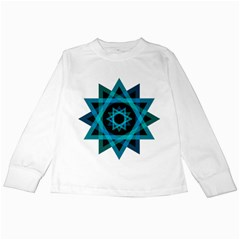 Transparent Triangles Kids Long Sleeve T Shirts