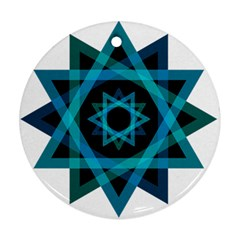 Transparent Triangles Round Ornament (two Sides)