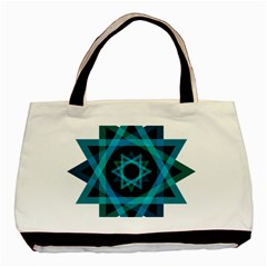 Transparent Triangles Basic Tote Bag (two Sides)