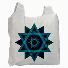 Transparent Triangles Recycle Bag (one Side)