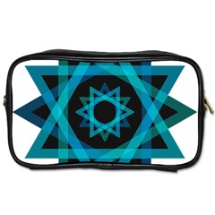Transparent Triangles Toiletries Bags