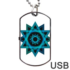 Transparent Triangles Dog Tag Usb Flash (two Sides)
