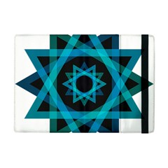 Transparent Triangles Apple Ipad Mini Flip Case