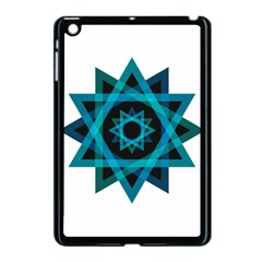 Transparent Triangles Apple Ipad Mini Case (black)