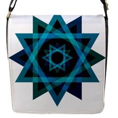Transparent Triangles Flap Messenger Bag (s)