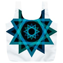Transparent Triangles Full Print Recycle Bags (l)