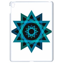 Transparent Triangles Apple Ipad Pro 9 7   White Seamless Case