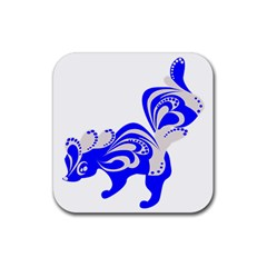 Skunk Animal Still From Rubber Square Coaster (4 Pack)