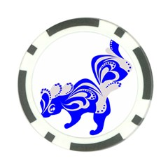Skunk Animal Still From Poker Chip Card Guard (10 Pack)