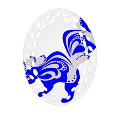 Skunk Animal Still From Ornament (oval Filigree)