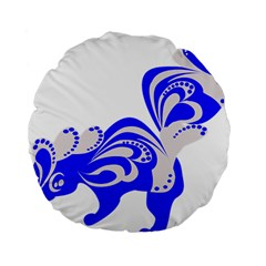 Skunk Animal Still From Standard 15  Premium Round Cushions