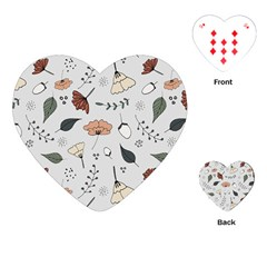 Grey Toned Pattern Playing Cards (heart)