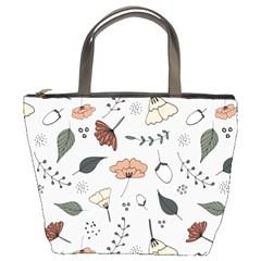 Grey Toned Pattern Bucket Bags