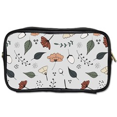 Grey Toned Pattern Toiletries Bags 2 Side