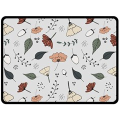 Grey Toned Pattern Fleece Blanket (large)