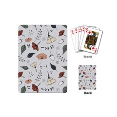 Grey Toned Pattern Playing Cards (mini)