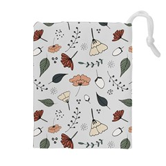 Grey Toned Pattern Drawstring Pouches (extra Large)