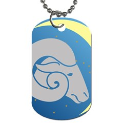 Ram Zodiac Sign Zodiac Moon Star Dog Tag (one Side)