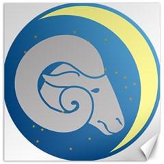 Ram Zodiac Sign Zodiac Moon Star Canvas 16  X 16