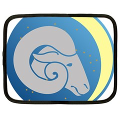 Ram Zodiac Sign Zodiac Moon Star Netbook Case (large)