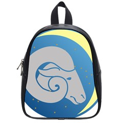 Ram Zodiac Sign Zodiac Moon Star School Bag (small)