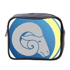 Ram Zodiac Sign Zodiac Moon Star Mini Toiletries Bag 2 Side