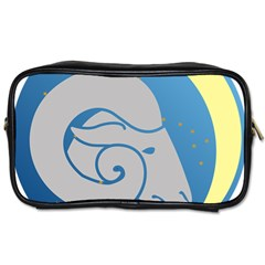 Ram Zodiac Sign Zodiac Moon Star Toiletries Bags 2 Side