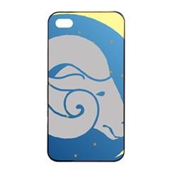 Ram Zodiac Sign Zodiac Moon Star Apple Iphone 4/4s Seamless Case (black)