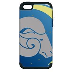 Ram Zodiac Sign Zodiac Moon Star Apple Iphone 5 Hardshell Case (pc+silicone)