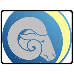 Ram Zodiac Sign Zodiac Moon Star Double Sided Fleece Blanket (large)